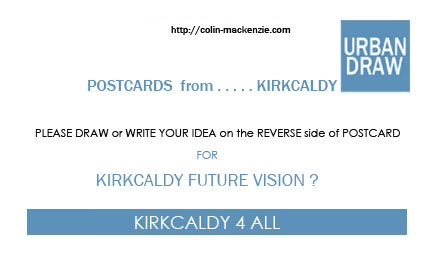POSTCARD DESIGN with URBANDRAW STAMP