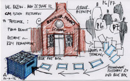 sketch drawing of the Dunnikier Primary Building